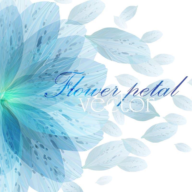 Pétales bleus de fleur de modèle rond floral illustration de vecteur