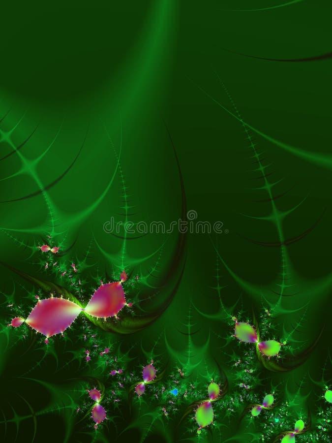 Pétales de jardin de fleur de fractale   illustration libre de droits