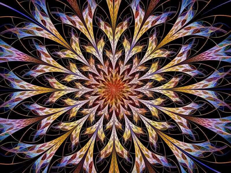 Pétalos abstractos de la flor - imagen digital generada libre illustration