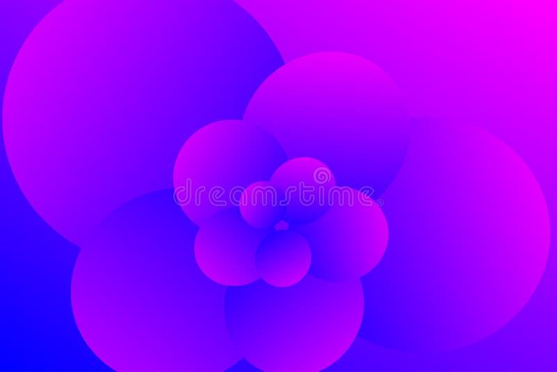 Pétalos abstractos y fondo floral de la pendiente imagen de archivo libre de regalías