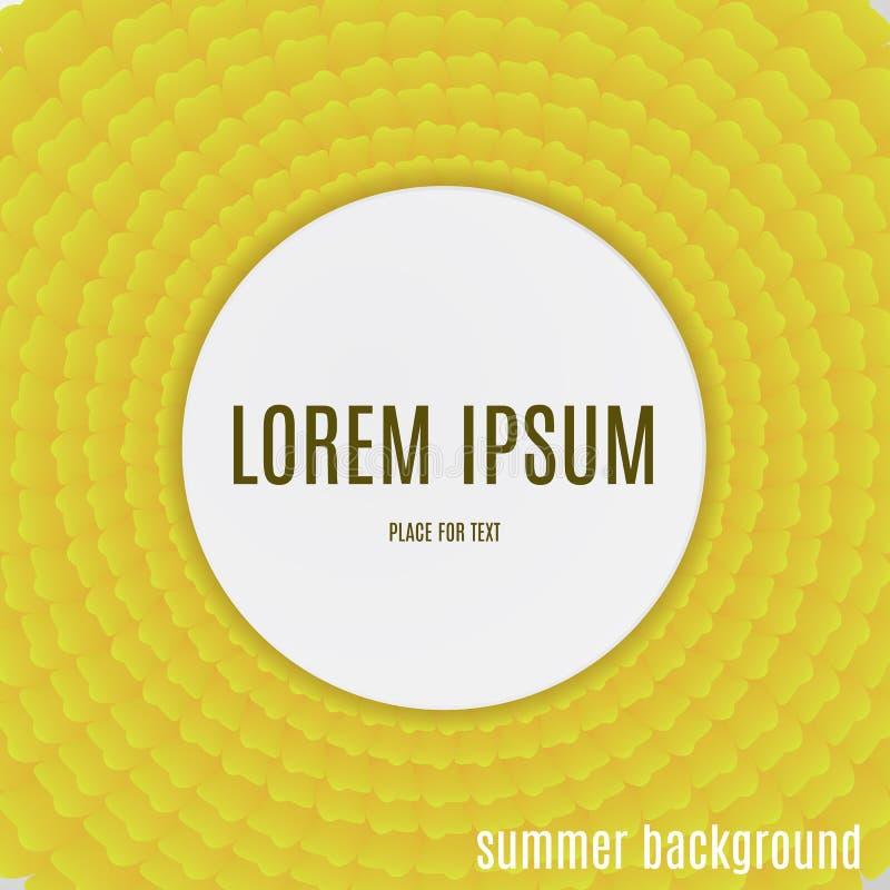 Pétalos amarillos abstractos Fondo del verano del día de fiesta stock de ilustración