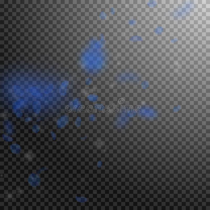 Pétalos azul marino de la flor que caen abajo Animadamente romano stock de ilustración