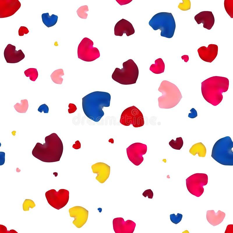 Pétalos color de rosa rosados, rojos, amarillos y azules libre illustration