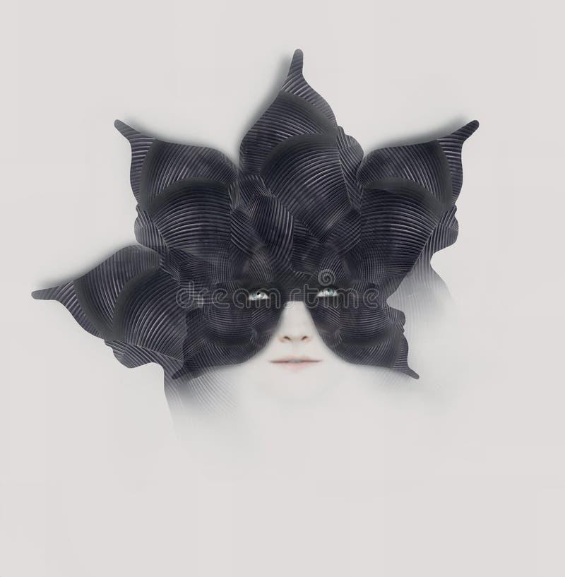Pétalos negros ilustración del vector