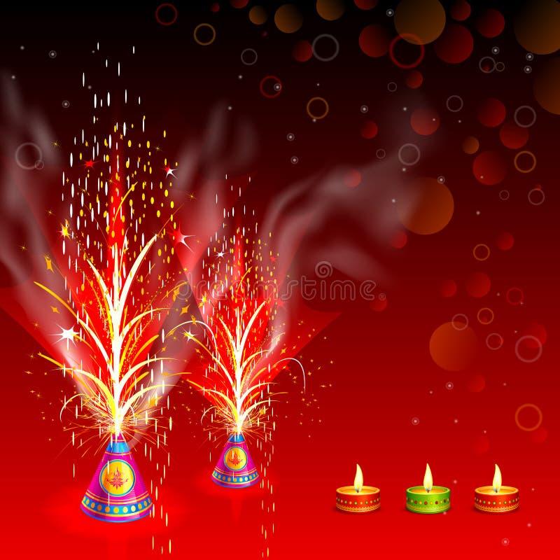 Pétard brûlant dans Diwali heureux