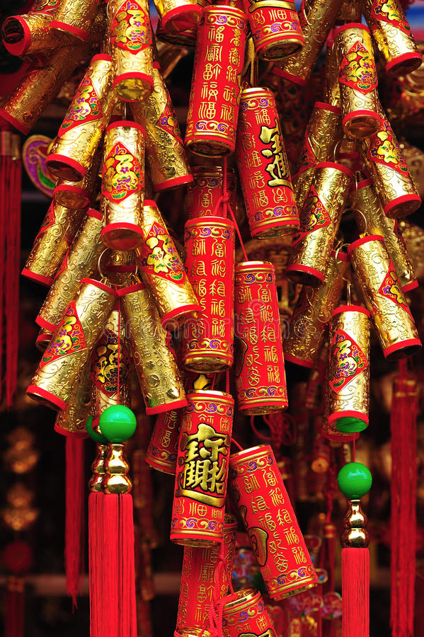 Pétards chinois d'an neuf photographie stock