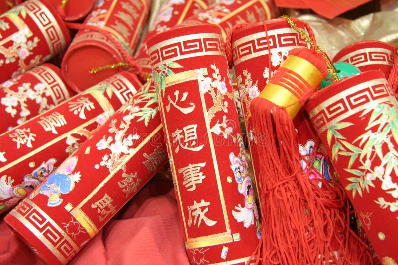 Pétards chinois de célébration photo stock