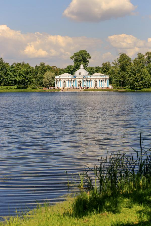 Pétersbourg, Russie - 29 juin 2017 : Tsarskoye Selo Le pavillon d'ermitage dans Catherine Park photo libre de droits