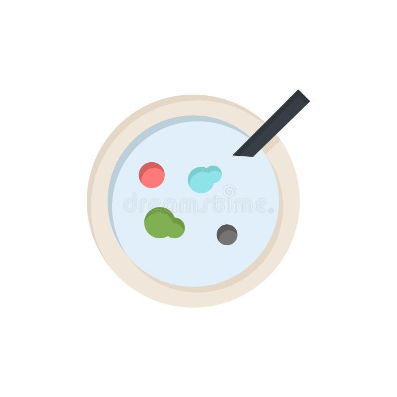 Pétri, piatto, analisi, icona piana medica di colore Modello dell'insegna dell'icona di vettore illustrazione vettoriale