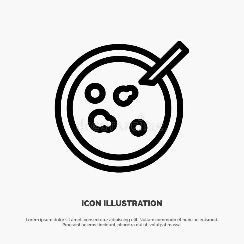 Pétri, piatto, analisi, linea medica vettore dell'icona illustrazione vettoriale