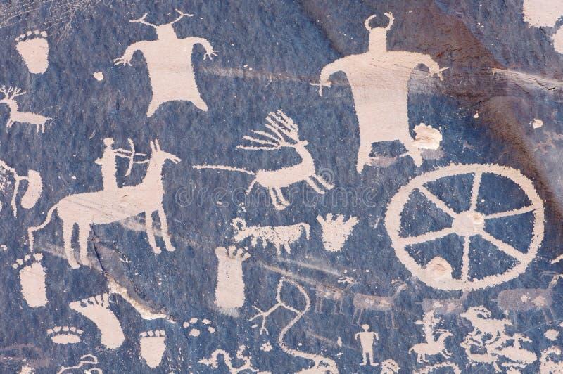 Pétroglyphe indienne image libre de droits