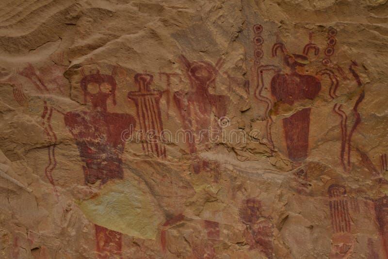 "Pétroglyphes ""étrangères ""antiques de canyon de Sego photos libres de droits"