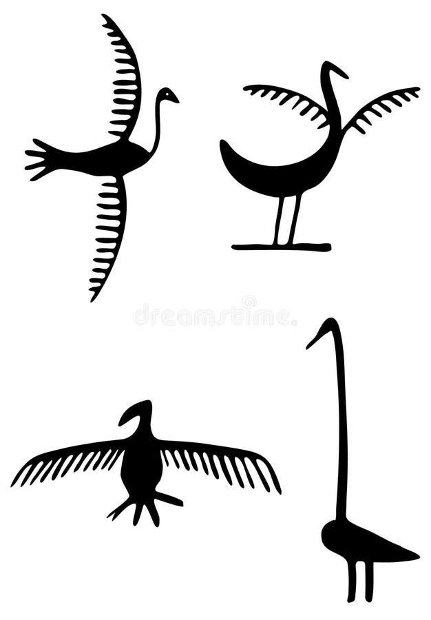 Pétroglyphes illustration de vecteur