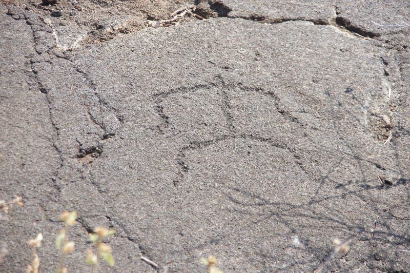 Pétroglyphes, découpages de roche photographie stock libre de droits