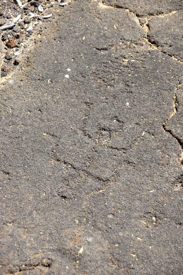 Pétroglyphes, découpages de roche photo libre de droits