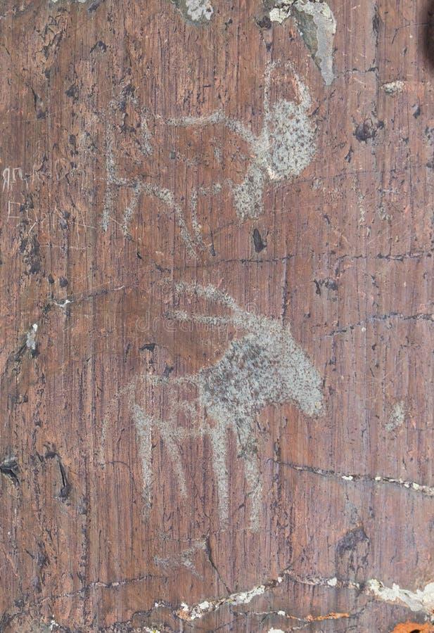 Pétroglyphes de l'âge du bronze photo libre de droits