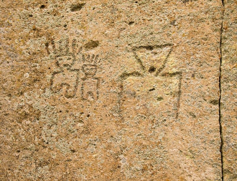 Pétroglyphes de Natif américain photographie stock libre de droits