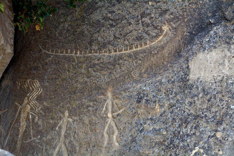 Pétroglyphes, Qobustan, Azerbaïdjan photographie stock
