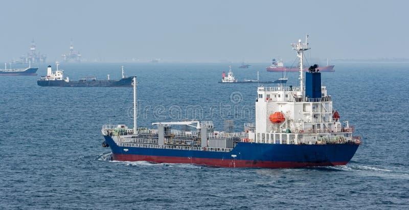 Pétrole/bateau-citerne chimique photos libres de droits