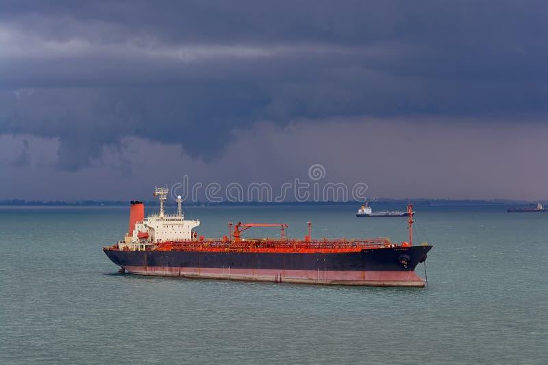 Pétrole/bateau-citerne chimique photographie stock