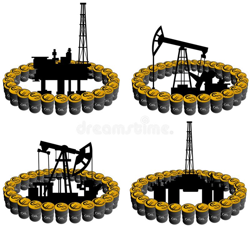 Pétrole business-5 illustration de vecteur