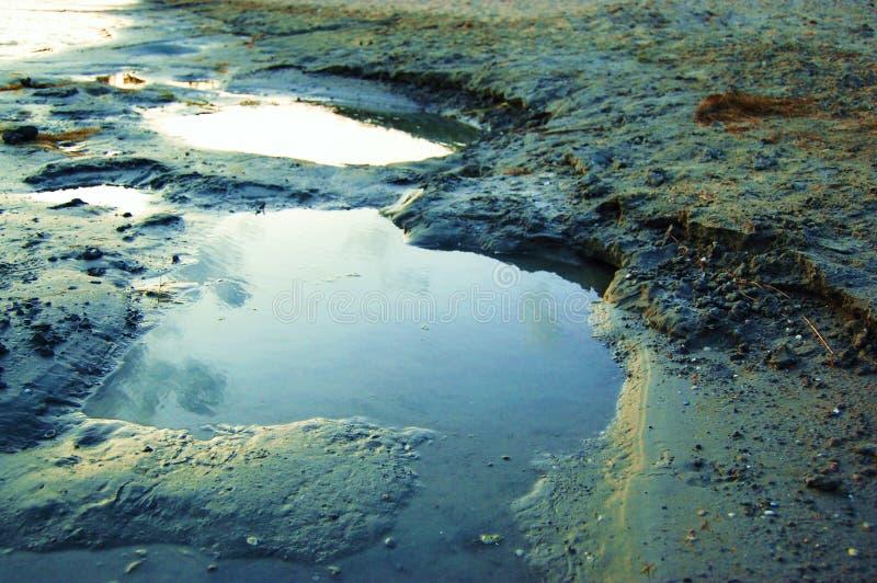 pétrole de miroir photographie stock libre de droits