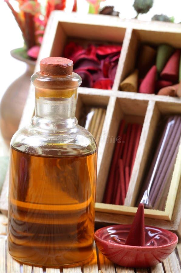 Pétrole Et éléments Aromatiques Photographie stock