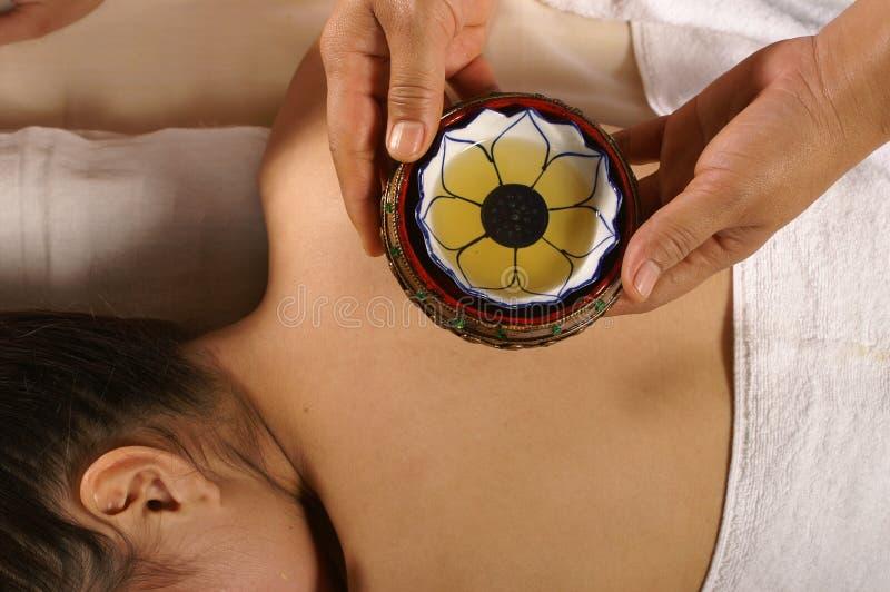 Pétrole pour le massage photos libres de droits