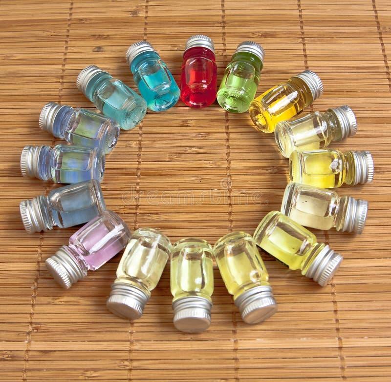 Pétroles aromatiques photographie stock libre de droits