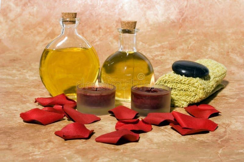 Pétroles Essentiels De Massage De Fuselage Photo stock