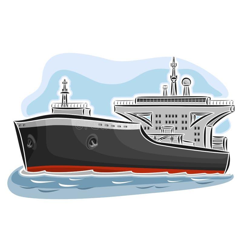 Pétrolier de pétrole brut illustration stock