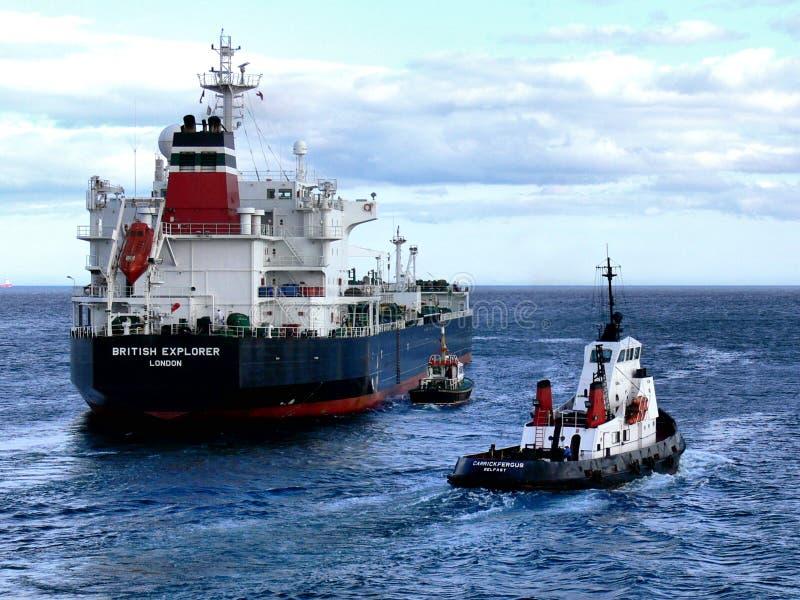 Pétrolier en cours à la mer photos libres de droits