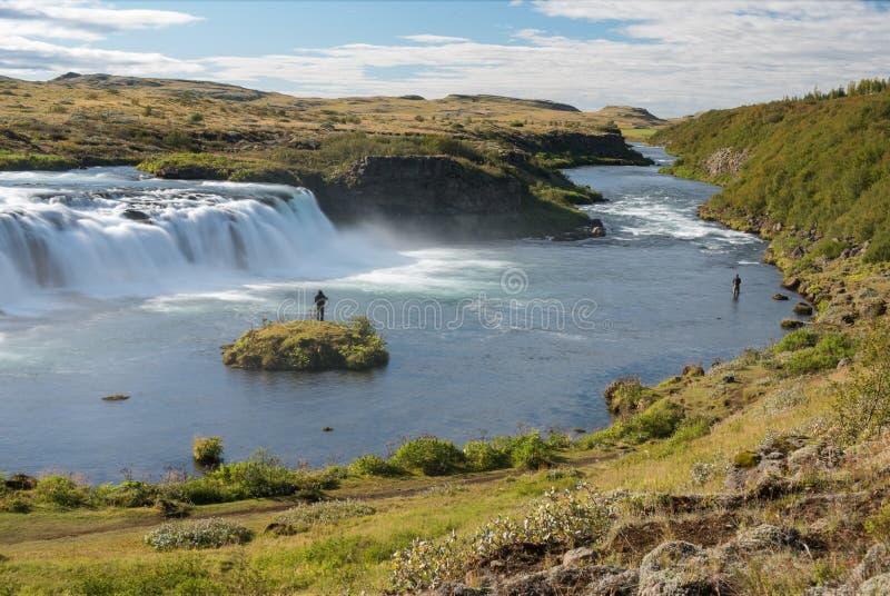 Download Pêchant à La Cascade De Faxi, L'Islande Image stock - Image du around, islandais: 87705883