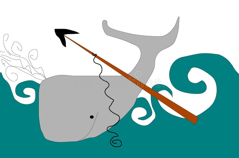 Pêche à la baleine photographie stock libre de droits