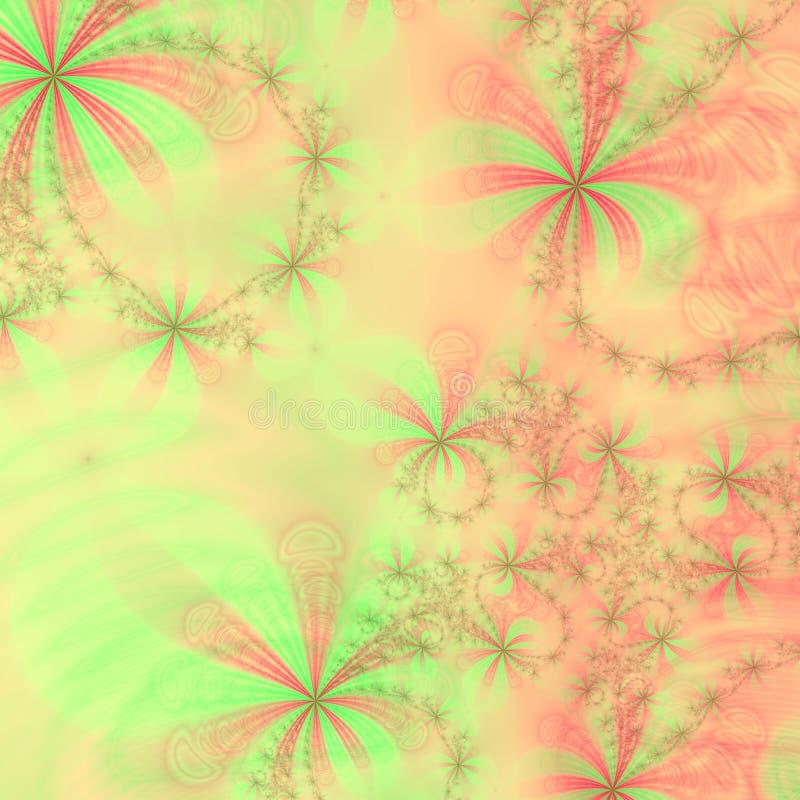 Pêche, étoiles et proues vertes et rouges, descripteur abstrait de conception de fond ou papier peint illustration de vecteur