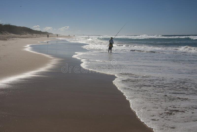 Pêche au surfcasting photo stock