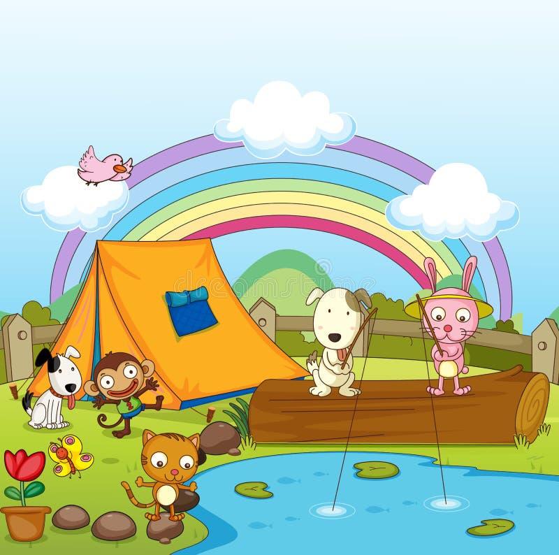 Pêche d'animaux illustration stock