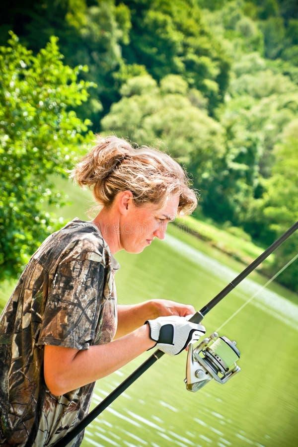 Pêche dans le lac photos libres de droits