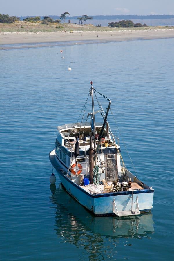 pêche de bateau petite photos stock