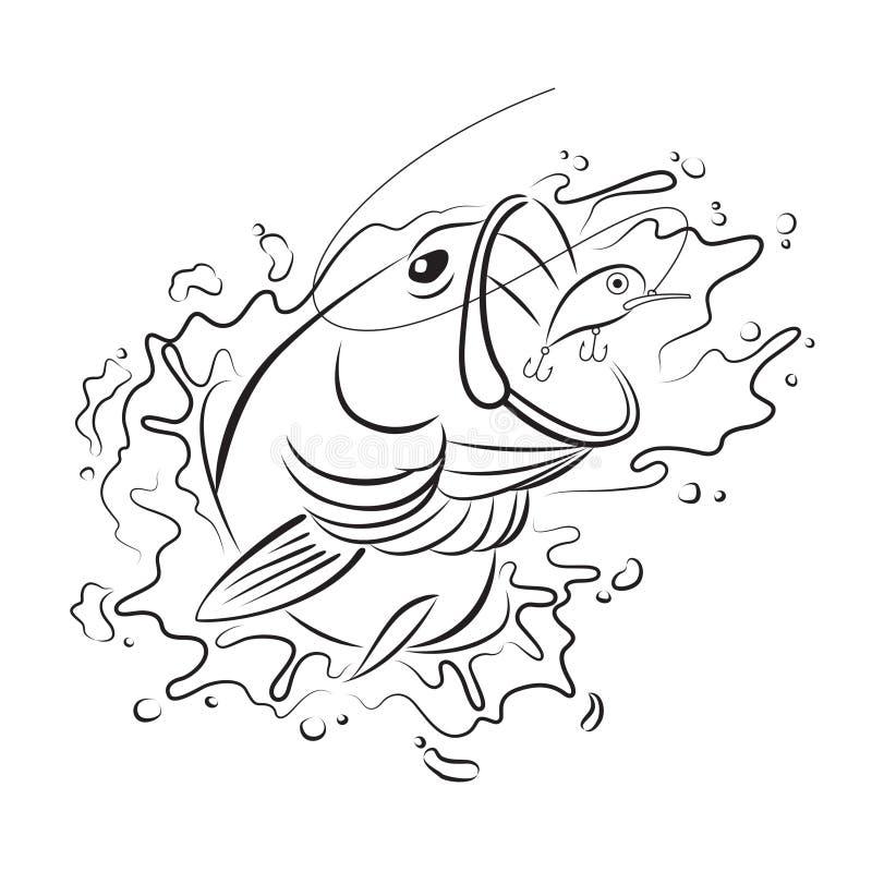 Pêche de dessin, vecteur illustration stock