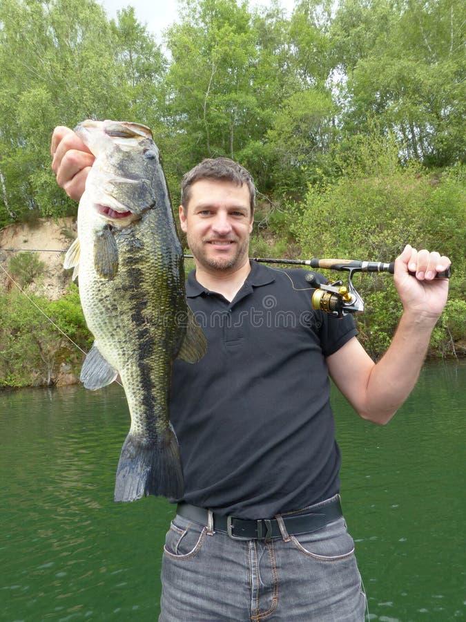 pêche de l'attrait capture de poissons, perche images libres de droits