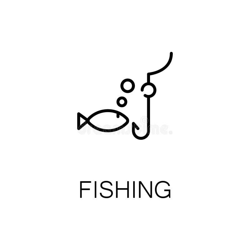 Pêche de l'icône ou du logo plate pour le web design illustration libre de droits