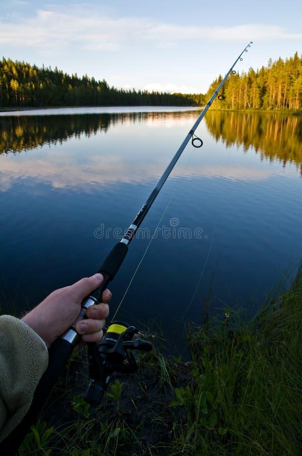 Pêche de la Laponie photo libre de droits