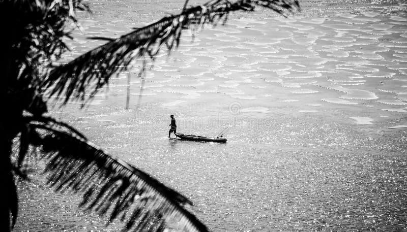 Pêche de marée basse de la Mozambique photo libre de droits