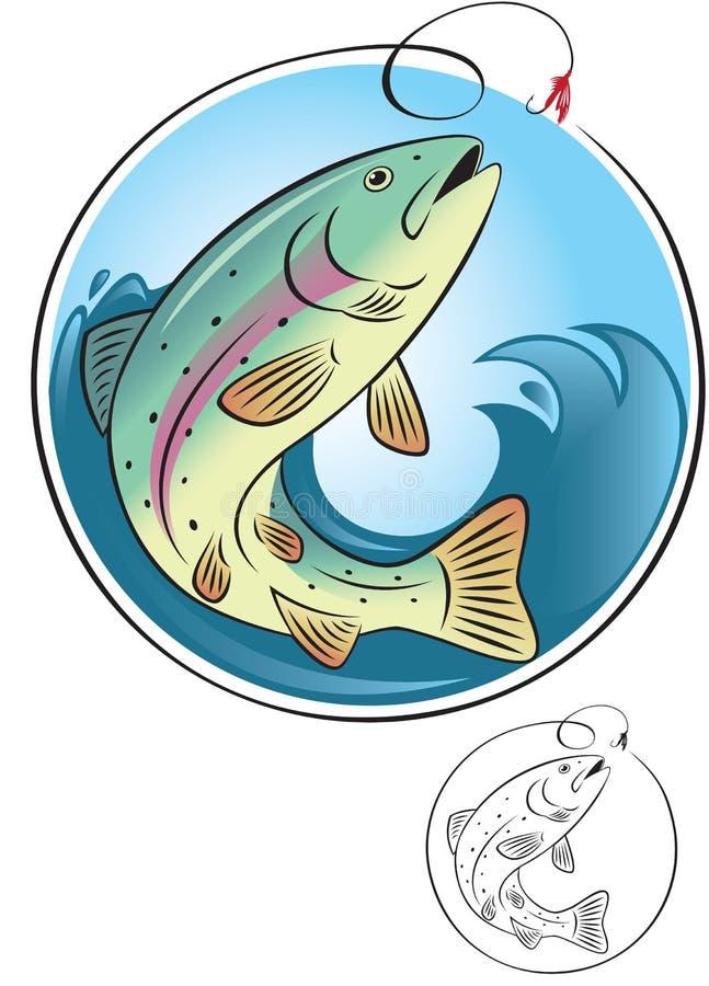 Pêche de mouche illustration stock