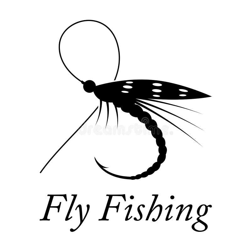Pêche de mouche graphique, vecteur illustration stock