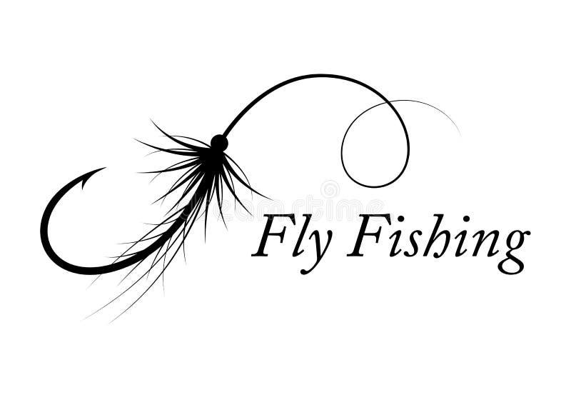 Pêche de mouche graphique, vecteur illustration de vecteur