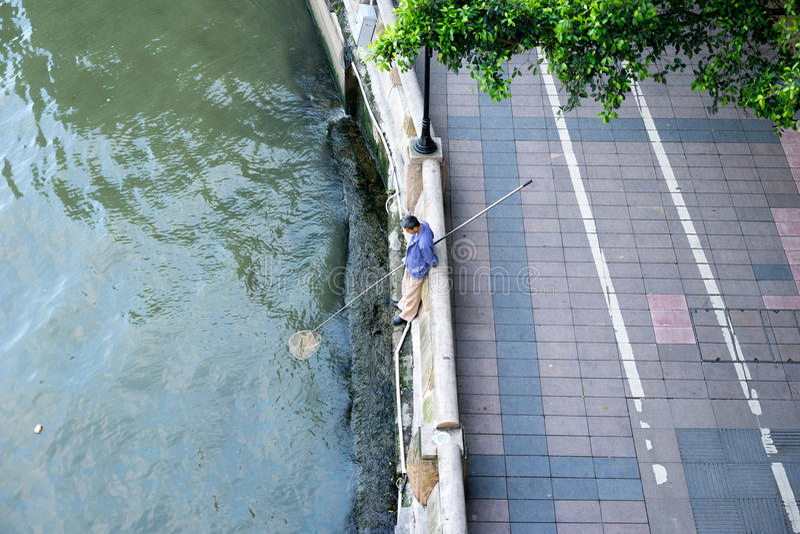 Pêche de personnes photographie stock libre de droits