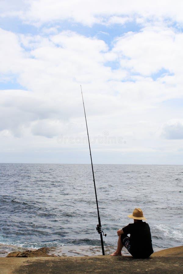 Pêche @ de Terrigal, Australie images libres de droits