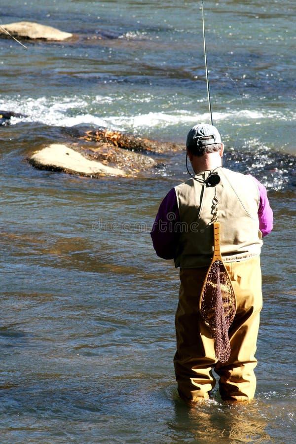 Pêche de truite   image stock